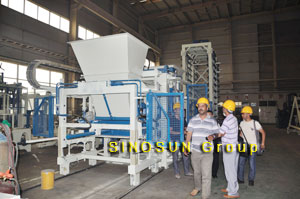 client visited block making machine factory